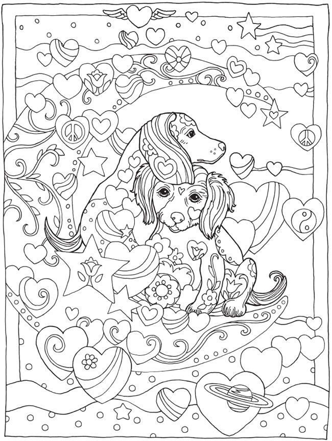 Dazzling Dogs Coloring Book Artwork By Marjorie Sarnat Doverpublications Cute PagesKids