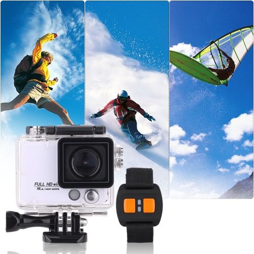 4K Full HD DV 2.0 TFT Screen Wifi Waterproof 50M Shockproof 8X Digital Zoom 170�� Wide Angle Outdoor Action Sports Camera Camcorder Digital Cam Video Car DVR Webcam PC