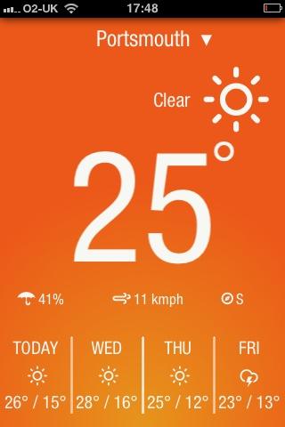 Beautiful simple weather app @weatherneue #design #interface