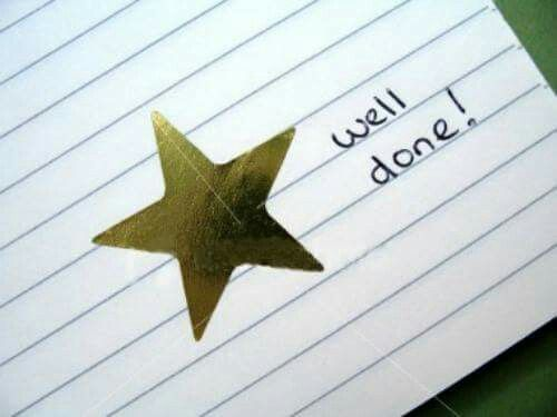I loved gerting gold stars for my work at school