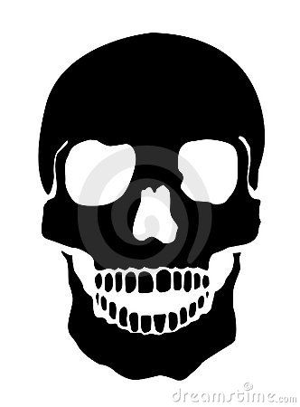 human skull illustration - Halloween Skeleton Head