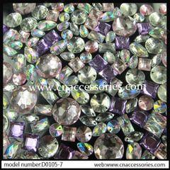 Ручные сшитые перфорированную секцию 10 светлых акриловые бурения пакеты DIY платье обувь Баотоу серия ручной работы Алмазный цветок аксессуары