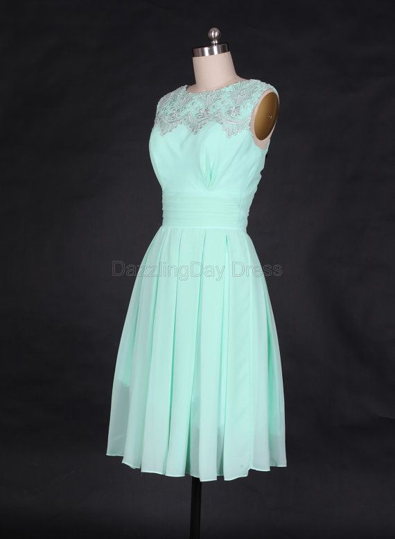 buy designer sunglasses Mint Short Bridesmaid Dresses Chiffon Prom Dresses by DazzlingDay