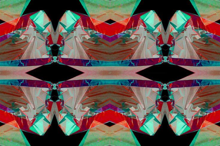 """Elaborati sperimentali. Sequenza di immagini d'arte: """"La struttura e il colore""""."""