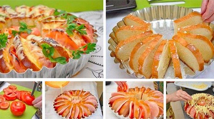Szendvicskenyér torta