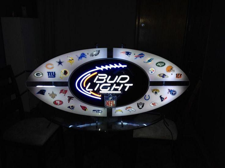 Bud Light NFL Neon | NFL Collectibles | Bud light, Nfl ...