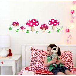 Little Boo-Teek - Decals and Stickers Speckled House Wall Decal - Mushroom $24.95 www.littlebooteek.com.au #littlebooteekau #presents #kids #bedroom #playroom #decals #wallstickers