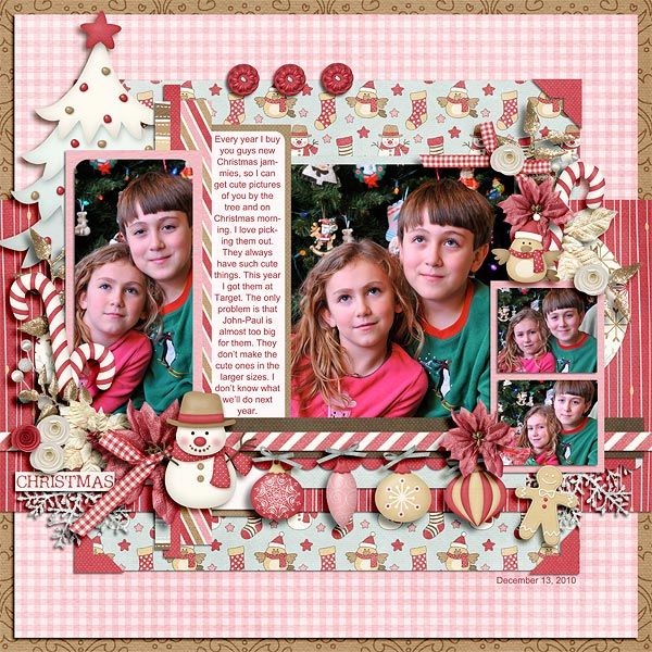 #papercraft #scrapbook #layout for #Christmas