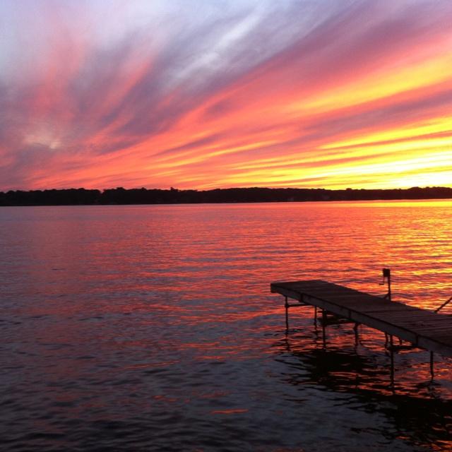 Beautiful Lake House Homes: Beautiful Sunset Over Lake Nagawicka, WI