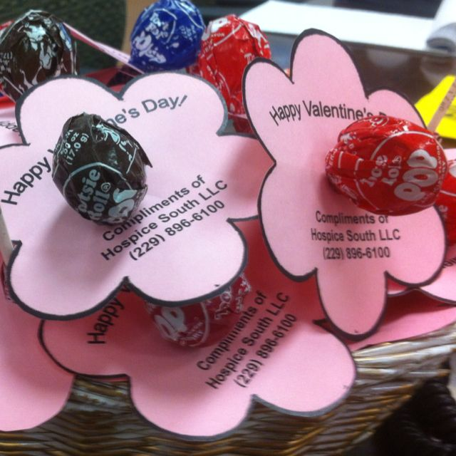 Flower Pops I Made For My Seniors At Nursing Homes For Valentines Day