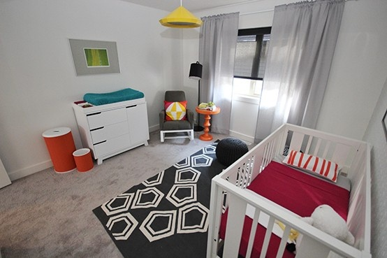 Pin to Inspire Contest | #AmblesideRooms | The Modern Simplistic Nursery by West Coast Kids in the Kanvi Homes showhome