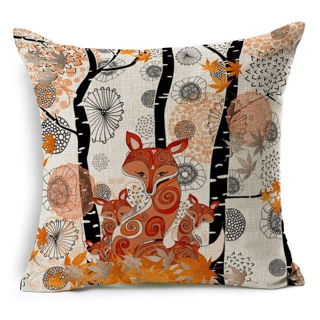 RUBIHOME New Fashion Cheap Cushion Cover Decorative Pillow Case Polyester Modern Home Decor Sofa Design Tiger Deer Birds Plant-in Cushion Cover from Home & Garden on Aliexpress.com | Alibaba Group