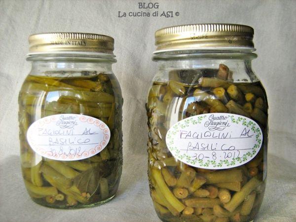 fagiolini al basilico La cucina di ASI