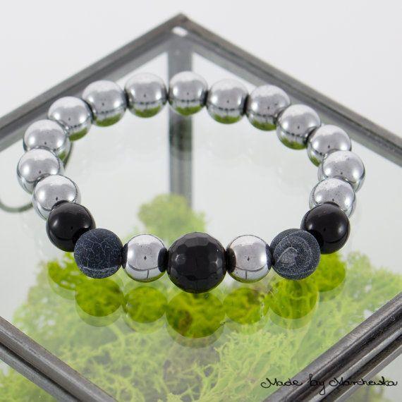 FREE SHIPPING Stretch Bracelet made with silver by MadeByMarchewka
