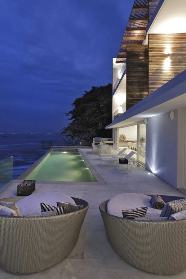 exotic terrace facing ocean view. Could you relax here? Tough life!