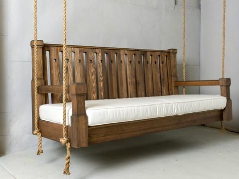 The Nostalgic Craftsman Porch Swing is handcrafted from weather-resistant Western Cedar offering both beauty and practicality. Each swing is made to order right here in the U.S. in an old world style