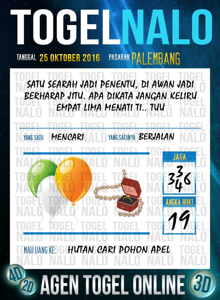 Tafsir Syair Togel Wap Online Live Draw 4D TogelNalo Palembang 25 Oktober 2016