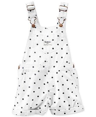 Osh Kosh Baby Girls' Dot Overalls
