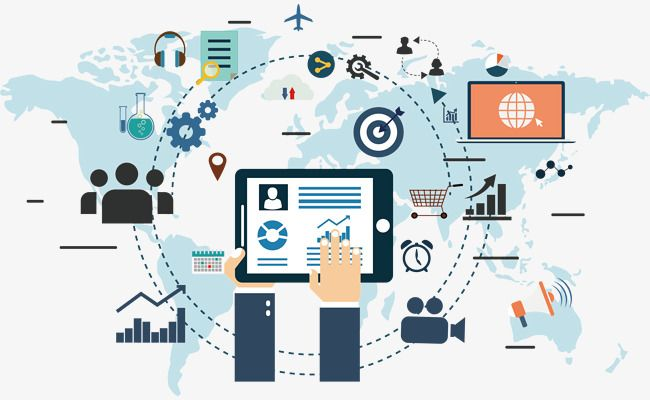 Design Background Of Global Science And Information Age Marketing Marketing Trends Information Technology