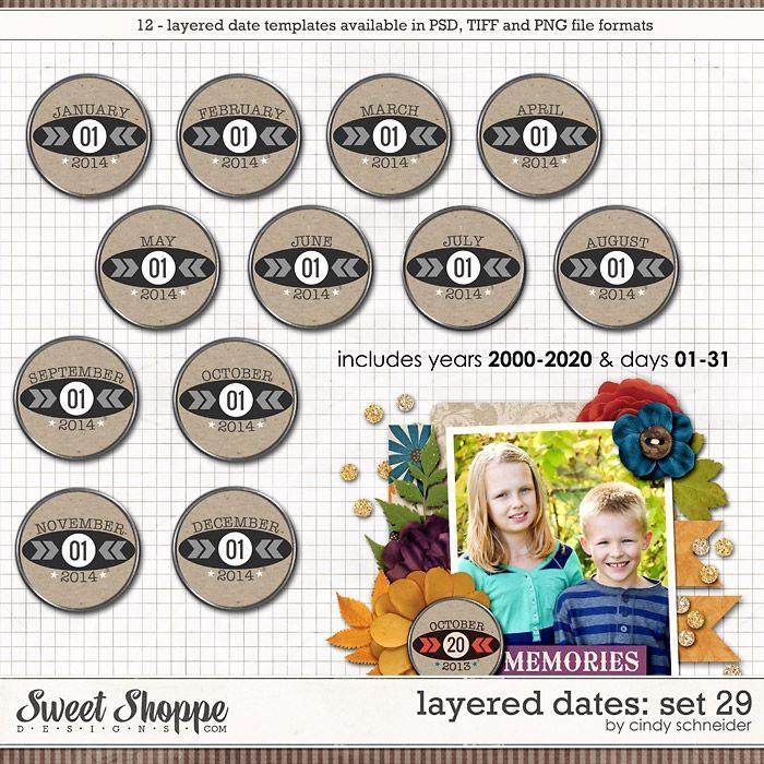 Cindy's Layered Dates: Set 29 by Cindy Schneider