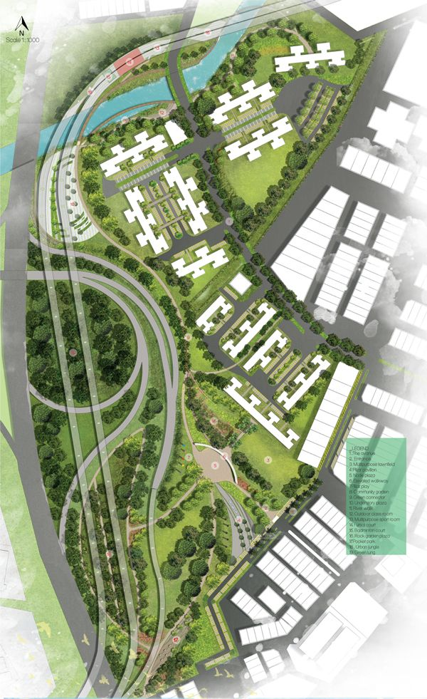 The project mainly focus on the proposal of landscape design on area near and under flyover