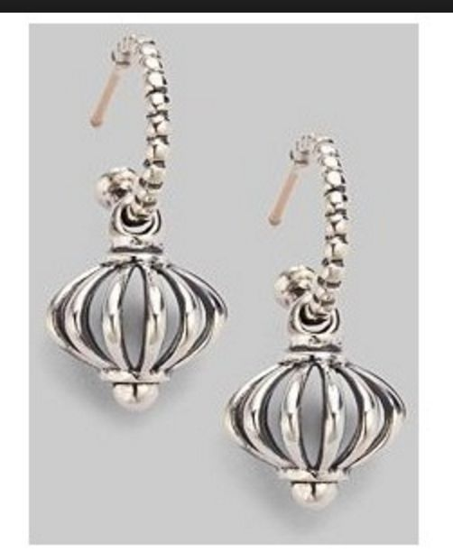 New Lagos Sterling Silver Earrings Birdcage Hoop Drop Dangle Jewelry Pinterest And