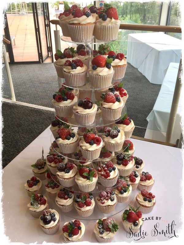 Summer Fruits Cupcake Tower Covering Wimborne Poole Bournemouth And Surrounding Areas Of Dorset