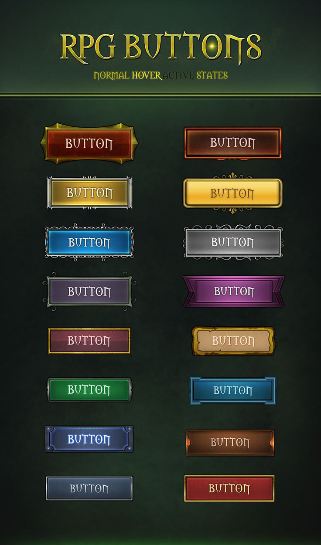 RPG Buttons 2.0 by VengeanceMK1.deviantart.com on @DeviantArt