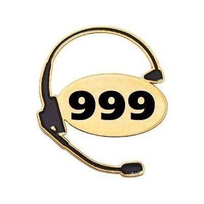 999 UK Emergency Medical Dispatcher Lapel Pin EMD Police Call Operator Taker
