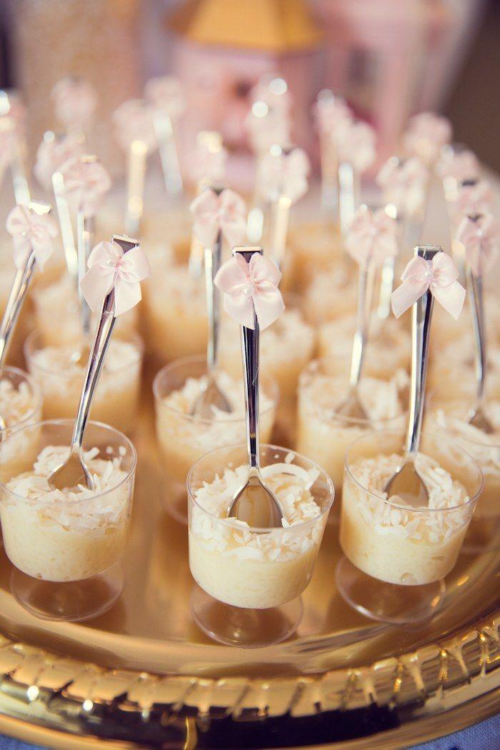 Pink and Gold baby shower via Kara's Party Ideas KarasPartyIdeas.com Cake, banner, desserts, favors, and more! #girlbabyshower #elegantbabyshower #pinkandgold (28)