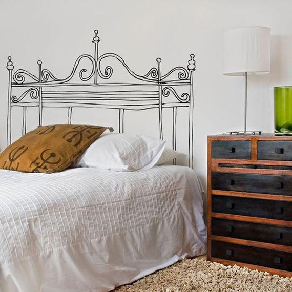 Las 25 mejores ideas sobre cabecera pintada en pinterest y - Cabeceros cama caseros ...