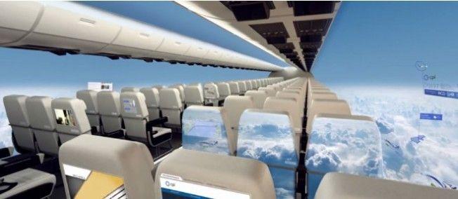 """""""Windowless Fuselage"""", un avion futuriste imaginé par la société d'ingénierie britannique Centre for Process Innovation (CPI)"""