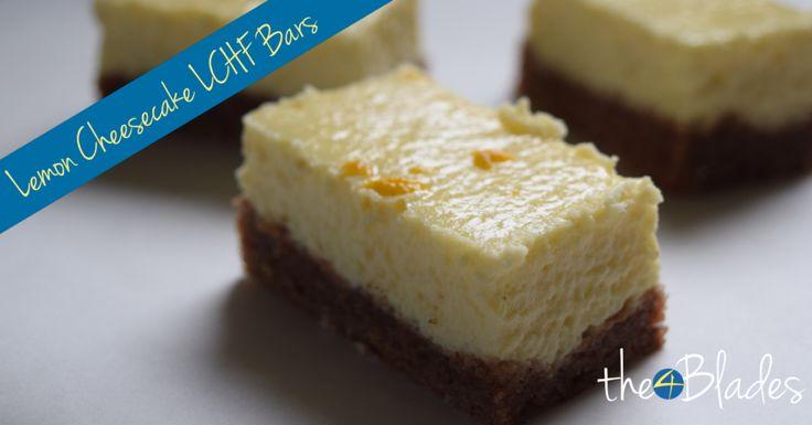 Lemon Cheesecake LCHF Bars