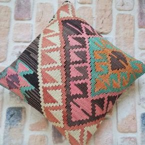 One of a kind kilim pillow, boho home decor, unique kilim pillows