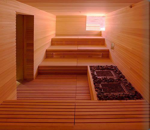 saunas in big places?