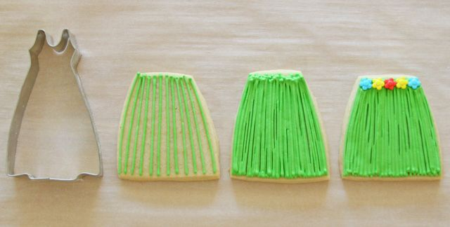 How to make grass skirt cookies