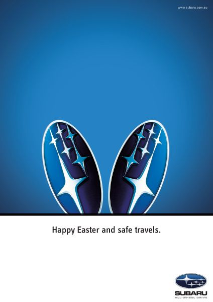 Subaru - Easter - TMP   #easter #egg #ads #marketing #werbung #print #poster #advertising #campaign < found on www.cre8ivedge.com.au pinned by www.BlickeDeeler.de