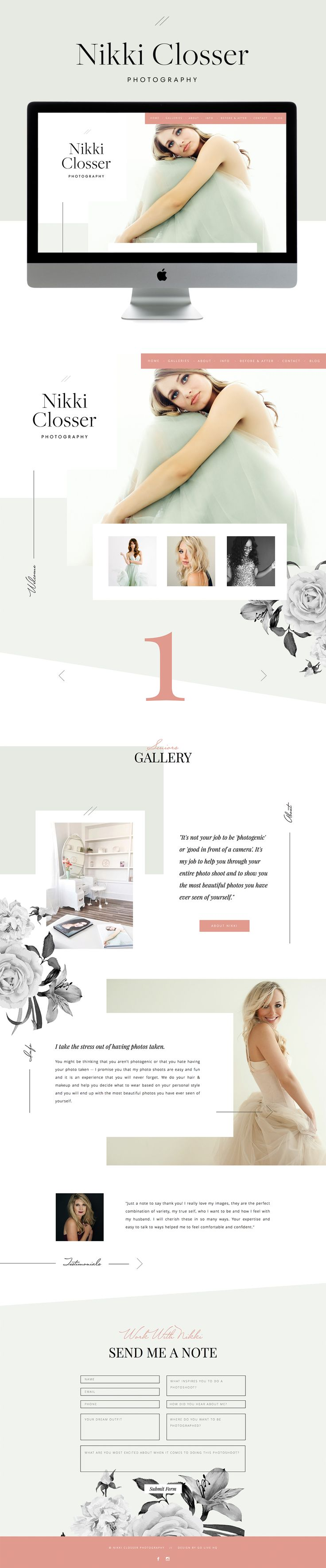 pretty, elegant & friendly showit website design | designed by: golivehq.co