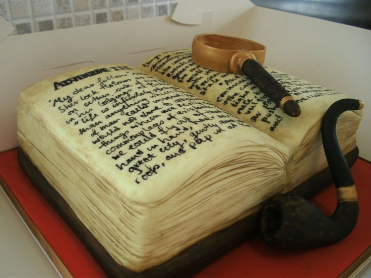 This is the most amazing thing I've ever seen! Sherlock Holmes Cake by ~gertygetsgangster on deviantART