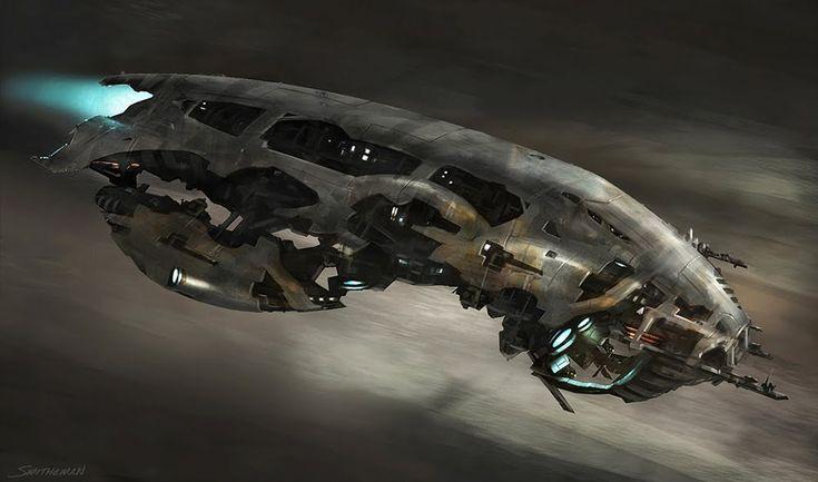 Spacecraft with partial exoskeleton.