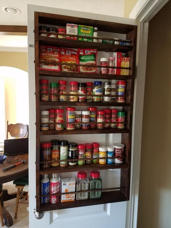Spice Rack In 2019 Bathroom Remodel Pantry Door Storage Armoire