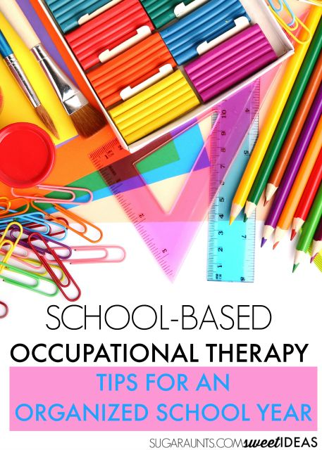 Tips for helping the school-based occupational therapist get organized in the…