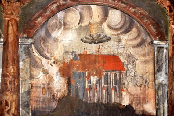 Misterul OZN-ului din Biserica Manastirii , din Sighișoara