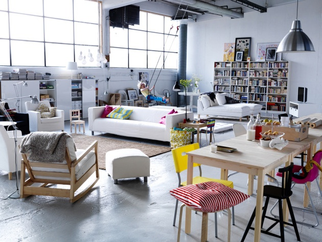 eclectic and creative Ikea loft styled by Hans Blomquist