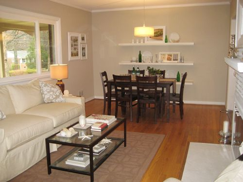 switch up your dining room seating by adding a padded leather bench to your dining room table - Living Room Dining Room