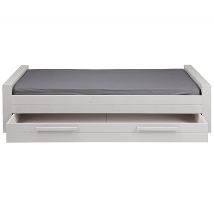 DENNIS KIDS SINGLE BED WITH TRUNDLE DRAWER in White