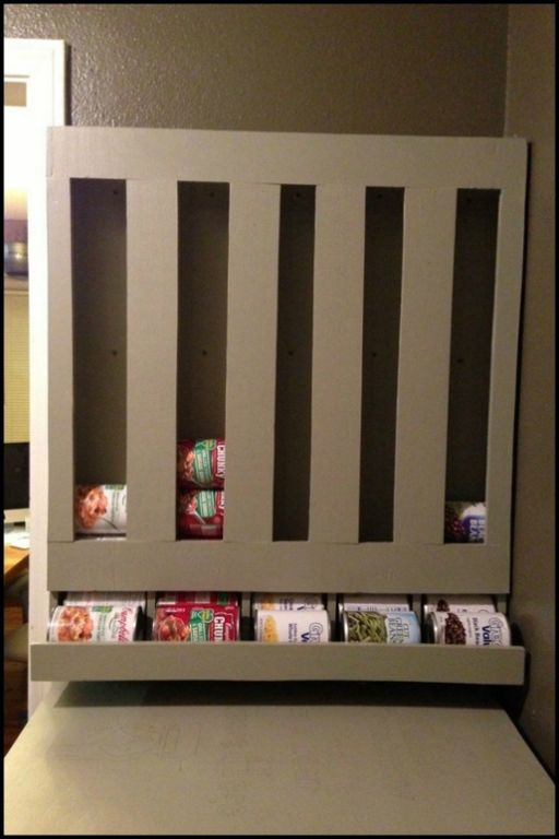 Best Kitchen Storage Ideas Part - 43: The Best Storage Idea For Canned Goods! It Uses The First-in-first