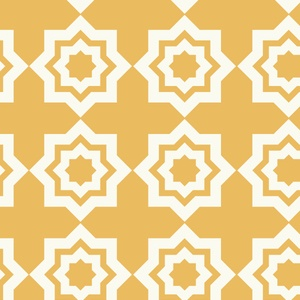 Tiles in Ochre fabric, Designer: Khristian A. Howell, Collection: Moroccan Mirage