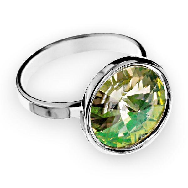 Inel cu baza din argint 925, model cu bordură și cristal Swarovski Rivoli! Intră pe simoshop.ro și vezi mai multe! #argint #swarovski #simoshop