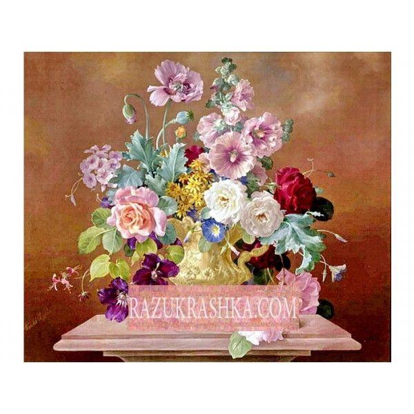 Папертоль «Цветы на коричневом». Купить за 650 р. в магазине Разукрашка.